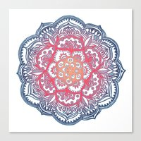 bedding Canvas Prints featuring Radiant Medallion Doodle by micklyn