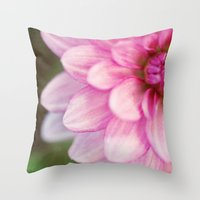 dahlia Throw Pillows featuring dahlia by Beverly LeFevre