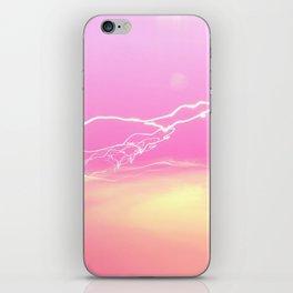 Pink lights iPhone Skin
