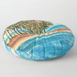 Private Island Painting Floor Pillow