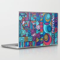 stained glass Laptop & iPad Skins featuring Stained Glass by Helene Michau