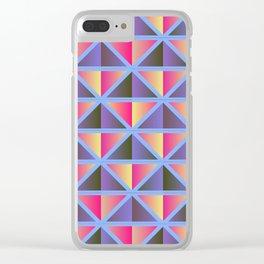 Purple triangles Clear iPhone Case