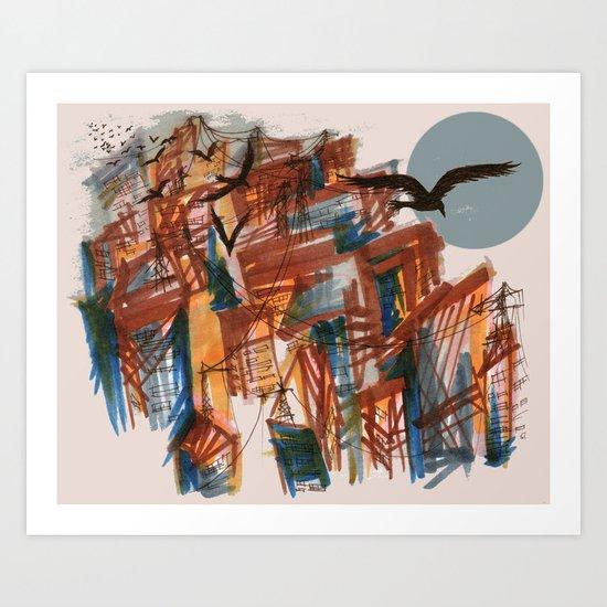 The City pt. 2 Art Print
