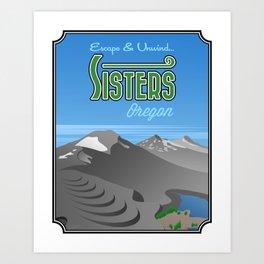 Landmarks of Life: Sisters, Oregon Art Print