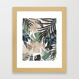 Tropical Jungle Leaves Pattern #13 (Fall Colors) #tropical #decor #art #society6 Framed Art Print