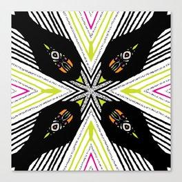 Neon Tribal Canvas Print