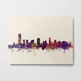 Jersey City New Jersey Skyline Metal Print