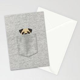 Pocket Pug Stationery Cards
