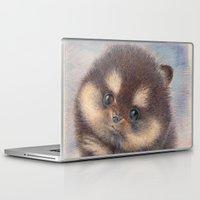 pomeranian Laptop & iPad Skins featuring Pomeranian by irshi