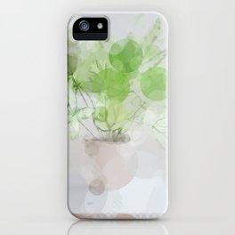 Eucalyptus Green Leaves iPhone Case