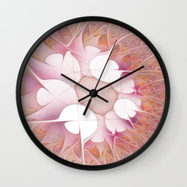 The Innocence, Abstract Fractal Art Wall Clock
