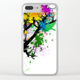 The Tree Of Many Colors Clear iPhone Case