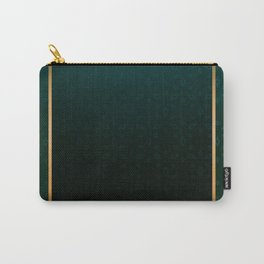 Emerald and Gold Accents Carry-All Pouch
