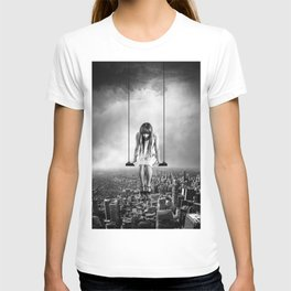 Girl Looking from Above T-shirt