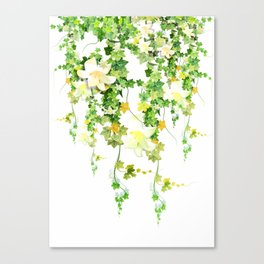 Watercolor Ivy Canvas Print