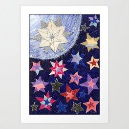 Christmas D19 - STARS Art Print