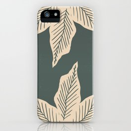 Surrounded by Plant Lovers - Green & Beige iPhone Case
