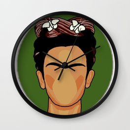 Cartoon Frida Wall Clock