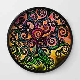 Cotton Candy Tree Wall Clock