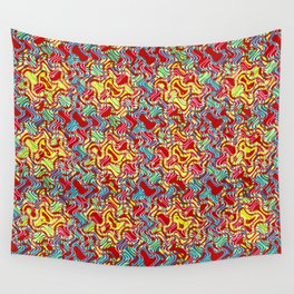 Polyp Red - Coral Reef Series 016 Wall Tapestry