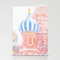 russian Stationery Cards featuring Russian Winter by digital2real