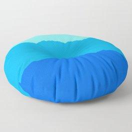 Minimal Mountain Range Outdoor Abstract Floor Pillow
