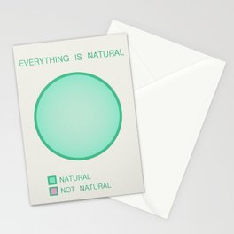Everything is Natural Stationery Cards
