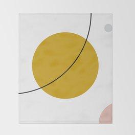 SPACCE 01// Geometric Pastel Minimalist Illustration Throw Blanket