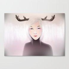 women_deer Canvas Print