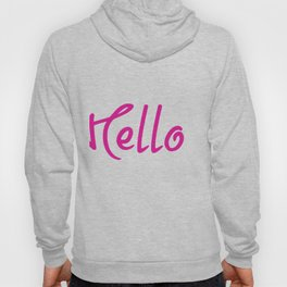 Hello Pink And White Hoody