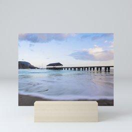 Hanalei Bay Pier at Sunrise Mini Art Print