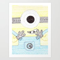 minion Art Prints featuring minion by di yirou