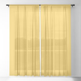 From The Crayon Box – Sunglow Yellow Orange - Bright Orange Solid Color Sheer Curtain