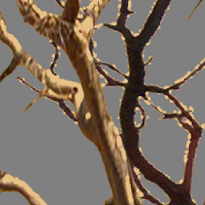 RAVEN ON DEAD TREE GREY ART Leggings