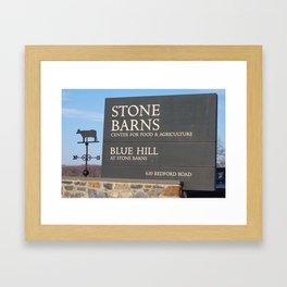 Stone Barns Sign, NY Framed Art Print