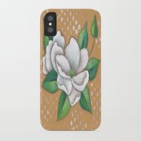 magnolia iPhone & iPod Cases featuring Magnolia by Judy Skowron