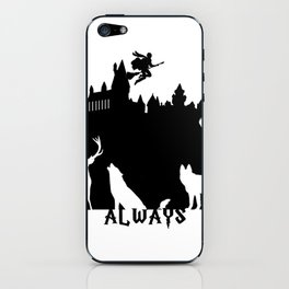 Potter clock and patronus group  iPhone Skin