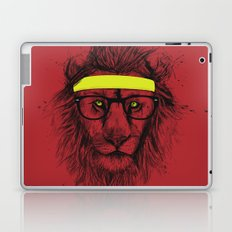 hipster lion (red) Laptop & iPad Skin