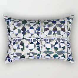 abstract tile in shade of blues Rectangular Pillow
