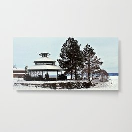 Gazebo on the Lake Metal Print
