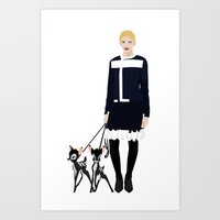 givenchy Art Prints featuring Givenchy  by Jo Lee