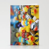 ducks Stationery Cards featuring Ducks by Galia Rogner