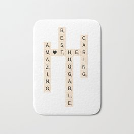 MOTHER's Day Scrabble Art Gift Bath Mat