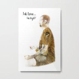 Jah Love, Jah Light Metal Print