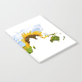 World of Sunflowers Notebook
