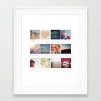 calendar Framed Art Prints featuring 2013 calendar by shannonblue