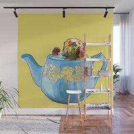 Otter Teapot Wall Mural