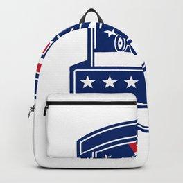 Brush Hogging Services USA Flag Badge Backpack