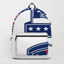 Brush Hogging Services USA Flag Badge Backpack
