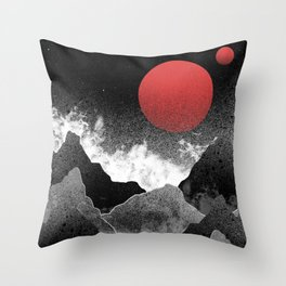 The two red moons Throw Pillow